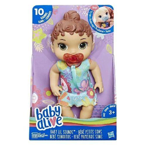 Boneca Baby Alive Primeiros Sons Morena Hasbro