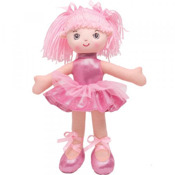 Boneca Bailarina Glitter P Rosa Buba