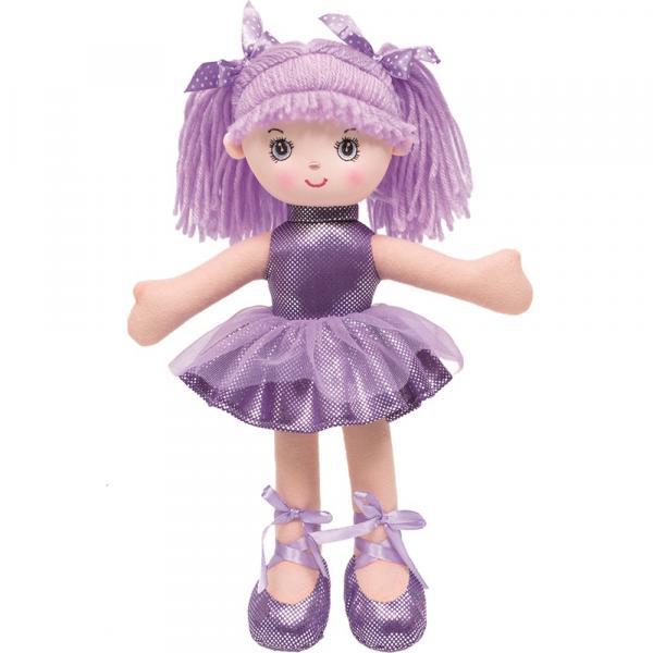 Boneca Bailarina Glitter P Roxa Buba