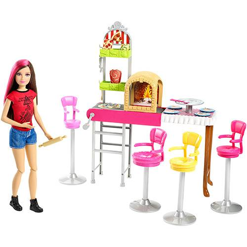 Boneca Barbie Family Pizzaria 3 é Demais - Mattel