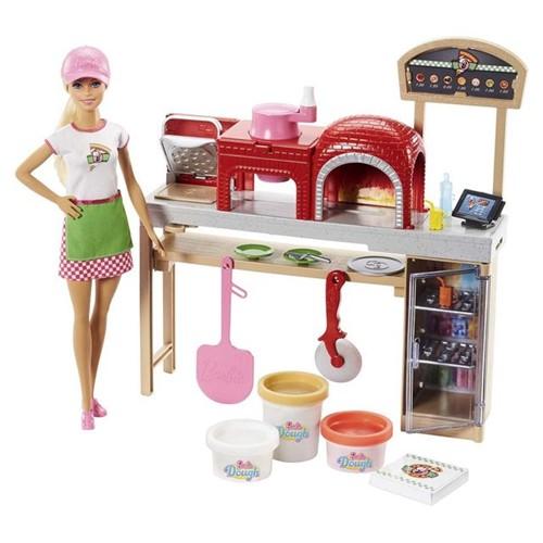 Tudo sobre 'Boneca Barbie Pizzaiola FHR09 Mattel Colorido'