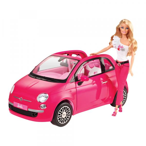 Boneca Barbie Real e Fiat 500 - Mattel