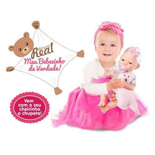 Tudo sobre 'Boneca Bebezinho Real Pink Roma'