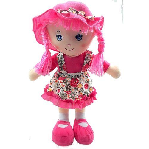 Boneca de Pano com Saia Rosa