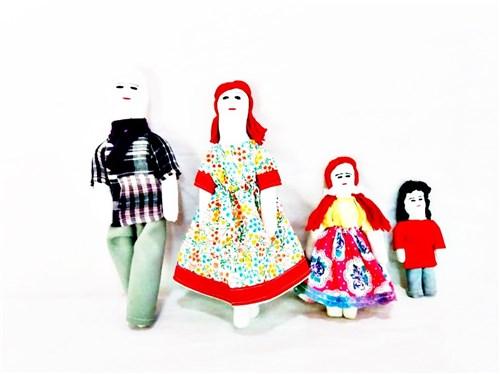 Boneca de Pano Família - 22 Cm -