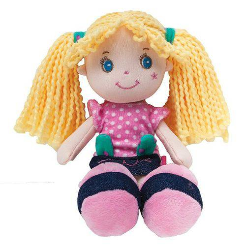 Boneca de Pano Gatinha Buba Amarela - 8140