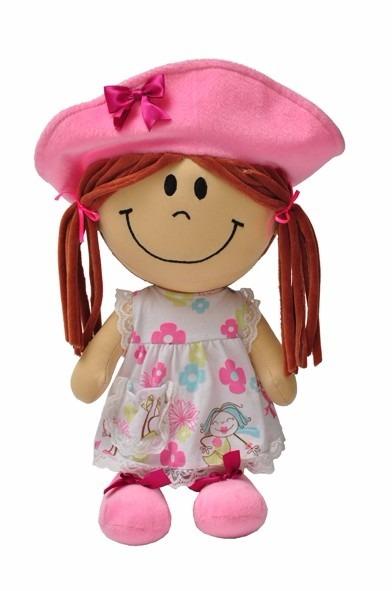 Boneca de Pelucia Chapeuzinho Rosa 40Cm - Toyng