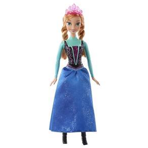Boneca Frozen Disney Brilhante - Anna