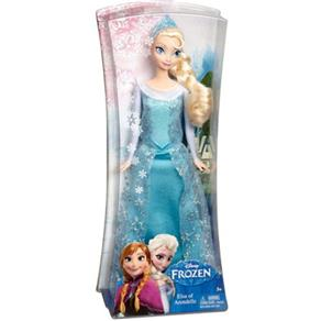 Boneca Frozen Princesa Elsa Brilhante - Mattel - Bege - 110V