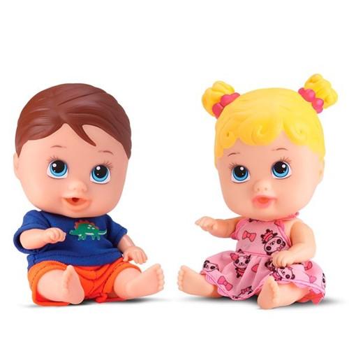 Tudo sobre 'Boneca Little Dolls Gêmeos Divertoys'