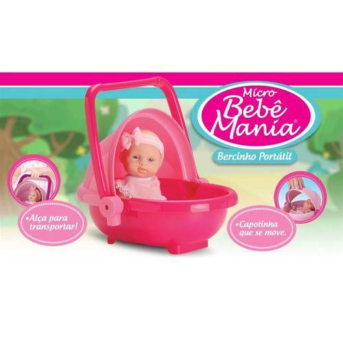 Tudo sobre 'Boneca Micro Bebê Mania Bercinho Portátil – Roma Brinquedo'
