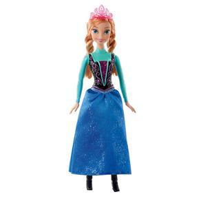 Boneca Princesas Disney Mattel Frozen - Bonecas Brilhantes - Anna