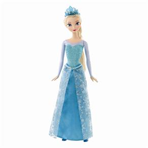Boneca Princesas Disney Mattel Frozen - Bonecas Brilhantes - Elsa