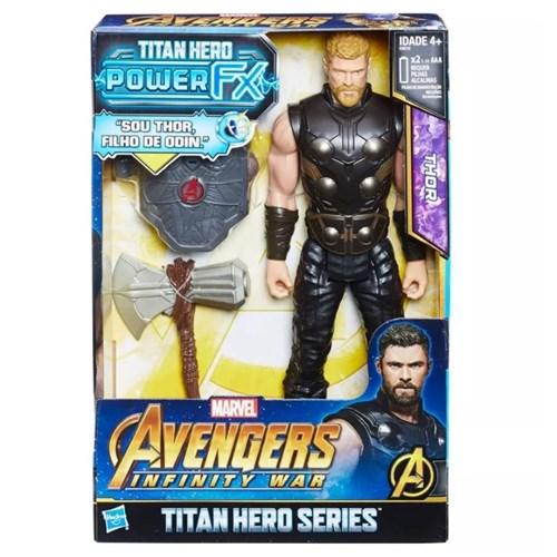 Boneco Avengers Figura 12 Power Pack Fx Thor - E0616 - Hasbro