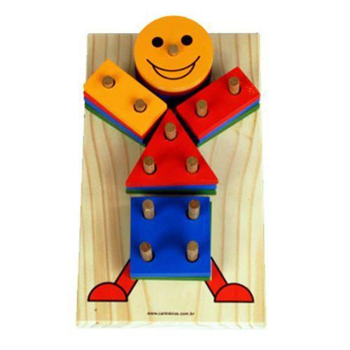 Boneco Geométrico - Carimbras - Brinquedo Educativo