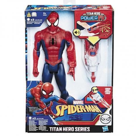 Boneco Homem Aranha Titan Hero Power Fx Vingadores - Hasbro