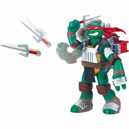 Tudo sobre 'Boneco Tartarugas Ninja Flingers Raphael 14cm - Multikids'