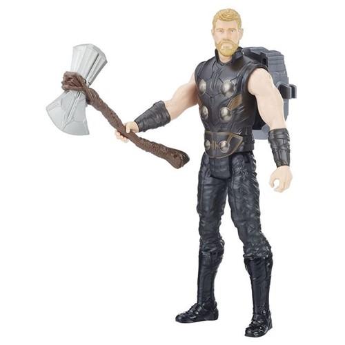Boneco Thor Vingadores Titan Hero E0606 Hasbro Preto