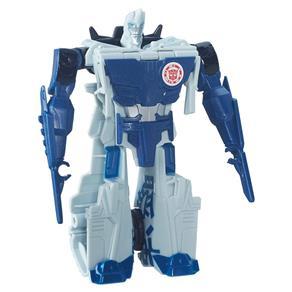 Boneco Transformável - 15 Cm - Transformers Robots In Disguise - One Step - Sideswipe Branco - Hasbro