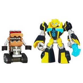 Boneco Transformers Bumblebee e Scrapmaster - Hasbro