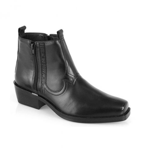 Bota Masculina New Country Couro Ferracini Preto 8907-115A 8907-115A 8907115A