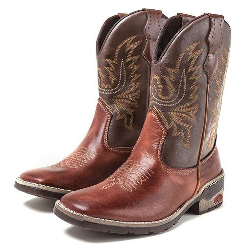 Bota Texana Country Masculina Couro Legítimo