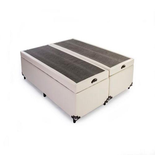 Box Bau Casal Bipartido 138 X 188 Corino Bege