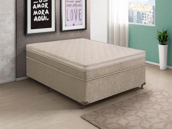 Box para Colchão Casal LightSpuma - 43cm de Altura Premium