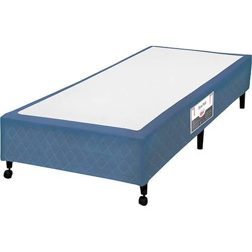 Box Solteiro Castor Poli Azul - 88x188x23cm