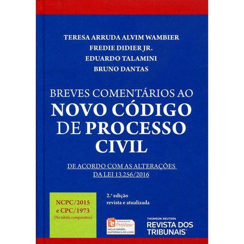 Tudo sobre 'Breves Comentários ao Novo Código de Processo Civil'