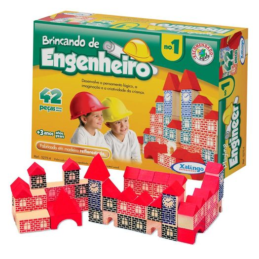 Brincando de Engenheiro 42 Pecas 52754 Xalingo