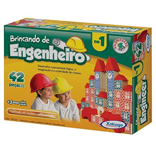 Brincando de Engenheiro I com 42 Peças 52754 - Xalingo