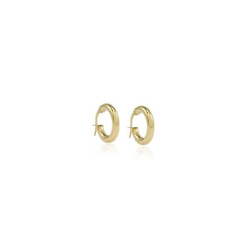 Brinco Argola Ouro Amarelo 18K 15mm - Hoops