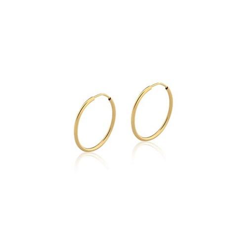 Brinco Argola Ouro Amarelo 18K 17mm - Hoops