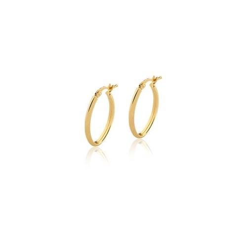 Brinco Argola Oval Ouro Amarelo 18K - Hoops