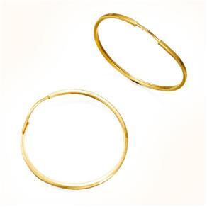 Brinco Argola Redonda em Ouro Amarelo - BR15849