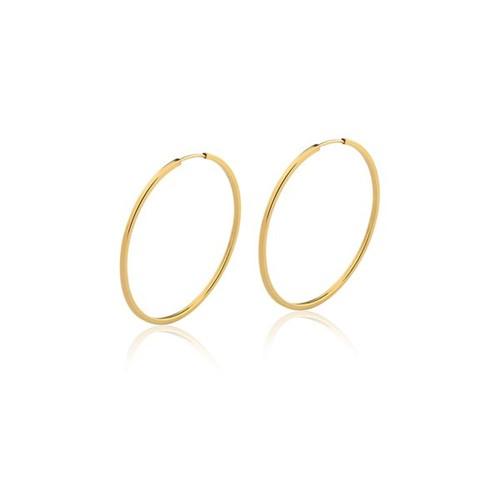 Brinco Argola Redonda Ouro Amarelo 18K 30mm - Hoops