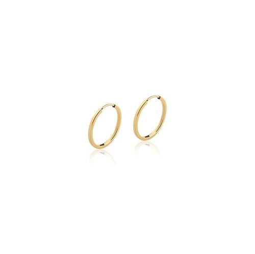 Brinco Argola Redonda Ouro Amarelo 18K 11mm - Hoops