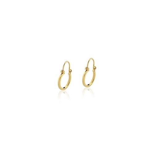 Brinco Argola Redonda Ouro Amarelo 18K 12mm - Hoops