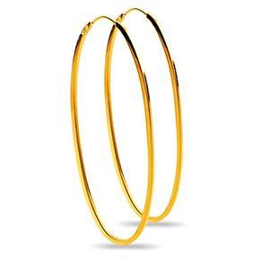 Brinco em Ouro Amarelo 18k Argola Oval