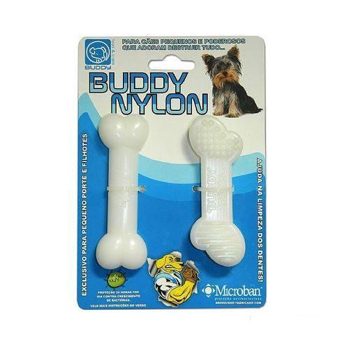 Brinquedo Osso Resistente Mordida Cães Nylon Buddy Toys