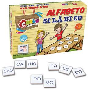 Brinquedo Pedagogico Madeira Alfabeto Silabico 150 Pecas Carlu