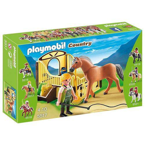 Tudo sobre 'Brinquedo Playmobil Country Cavalos 5517 5516'