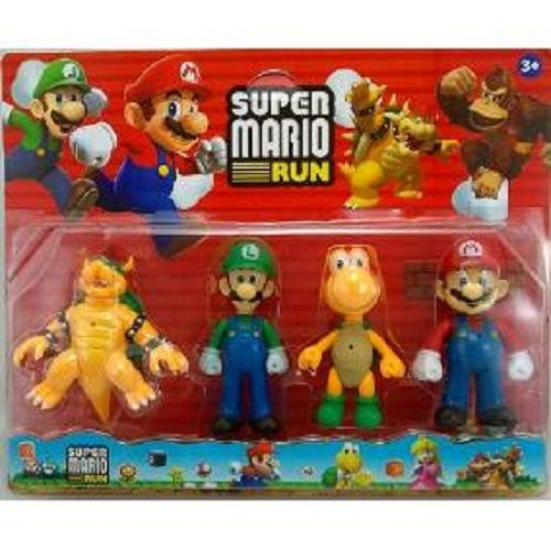 Brinquedo Super Mario Kit 4 Peças