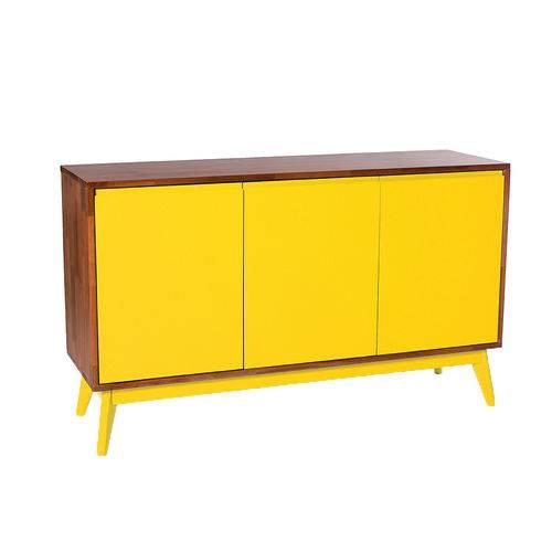 Tudo sobre 'Buffet Safira 3 Portas Amarelo - Wood Prime'