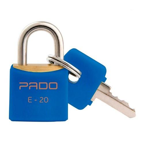 Cadeado Latão Pado Colorido Azul 20mm
