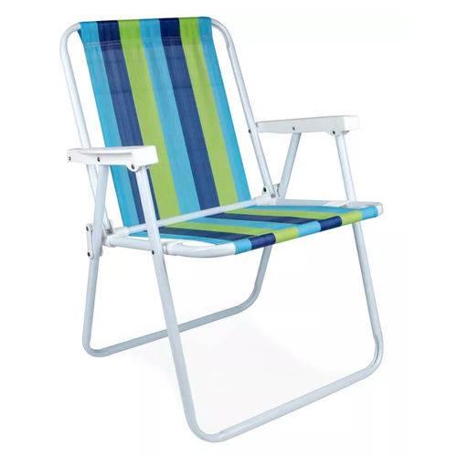 Cadeira Alta Aço Azul e Verde – MOR
