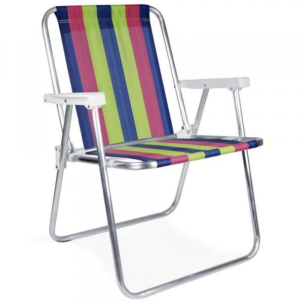 Cadeira Alta Alumínio - 2224 - Mor