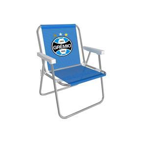 Cadeira Alta Alumínio Azul Grêmio