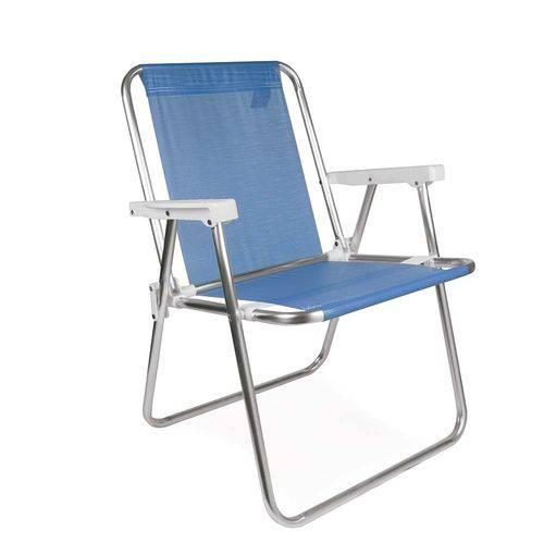 Tudo sobre 'Cadeira Alta Alumínio Azul'